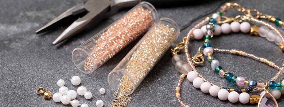 Beads and jewellery making elements