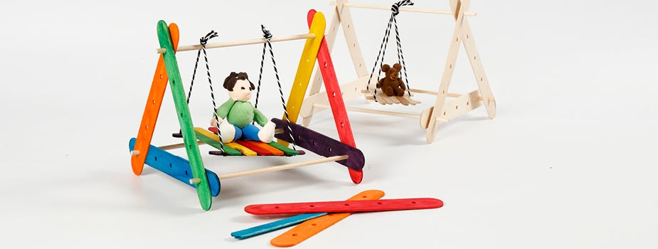 Lolly sticks and construction tools