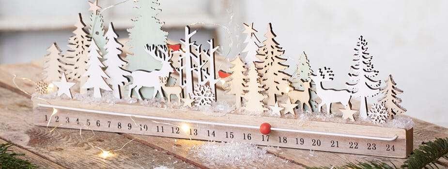 Christmas decorations and candles