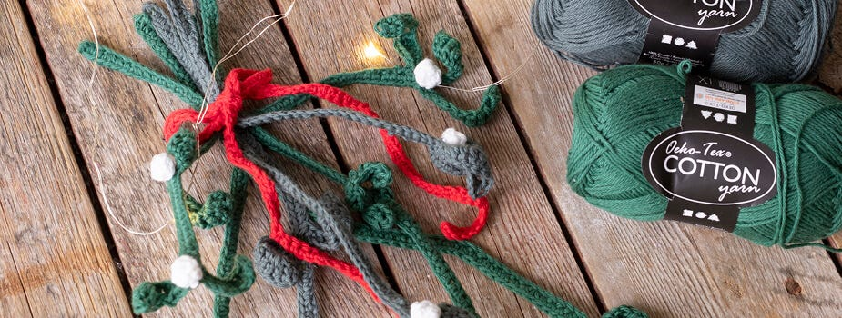 Crocheted and knitted Christmas decorations