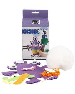 Funny Friends, monster - Topsy, size 24x21 cm, purple, 1 set