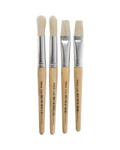 Kids Paint Brushes, W: 15 mm, 4 pc/ 1 pack