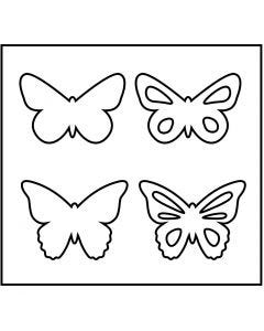 Steel Ruled Die, butterfly, size 14x15,25 cm, thickness 15 mm, 1 pc