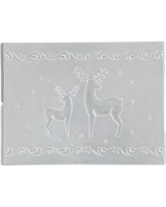 Embossing Folder, reindeer, D: 11x14 cm, thickness 2 mm, 1 pc