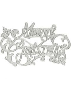 Die Cut, Merry Christmas, D: 11,5x7,2 cm, 1 pc