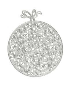 Die Cut and Embossing Folder, christmas ornaments, D: 9x11 cm, 1 pc