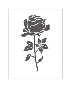 Embossing Folder, rose, size 11x14 cm, thickness 2 mm, 1 pc