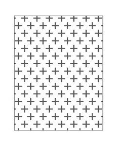 Embossing Folder, cross, size 11x14 cm, thickness 2 mm, 1 pc