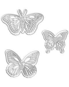Die Cut, butterfly, size 5x4,5+6,5x5+8x4,5 cm, 1 pc