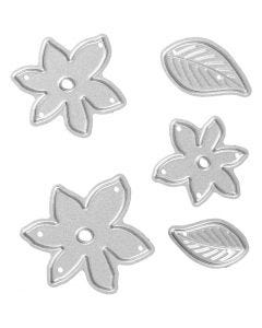 Die Cut and Embossing Folder, little plants, size 2-5x1,2-5 cm, 1 pc