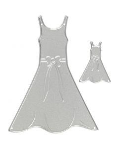 Die Cut, dresses, size 27x35+26x90 mm, 1 pc