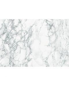Self-adhesive foil, marble, W: 45 cm, grey, 2 m/ 1 roll