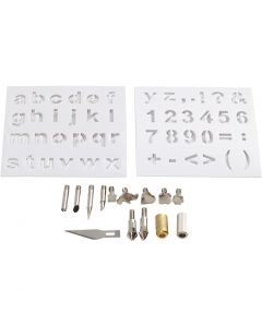 Metal tips, D: 1-15 mm, 1 set