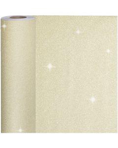Gift wrap, W: 50 cm, 80 g, gold, 100 m/ 1 roll