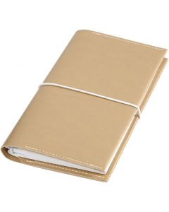 Planner, size 10x18x1,5 cm, elastic closure, gold, 1 pc