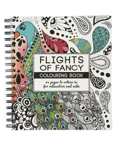 Mindfullness Colouring Book, Flights of Fancy, size 19,5x23 cm, 64 , 1 pc