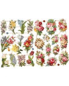 Vintage Die-Cuts, Spring Flower, 16,5x23,5 cm, 2 sheet/ 1 pack