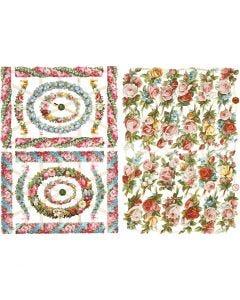 Vintage Die-Cuts, Piccoli fiori, 16,5x23,5 cm, 2 sheet/ 1 pack