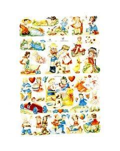 Vintage Die-Cuts, kids, 16,5x23,5 cm, 2 sheet/ 1 pack
