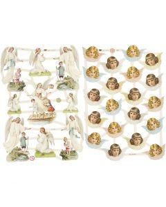 Vintage Die-Cuts, Nostalgic angels, 16,5x23,5 cm, 2 sheet/ 1 pack