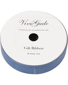 Curling Ribbon, W: 18 mm, matt, blue, 25 m/ 1 roll