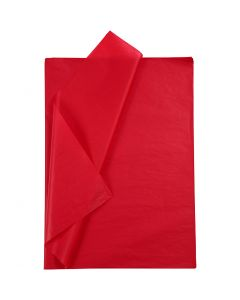 Tissue Paper, 50x70 cm, 14 g, red, 10 sheet/ 1 pack