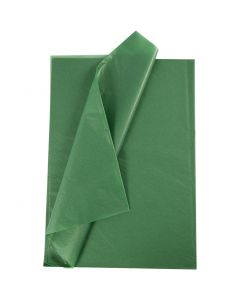 Tissue Paper, 50x70 cm, 14 g, green, 10 sheet/ 1 pack