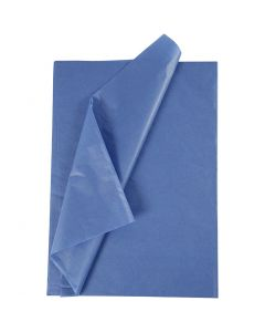 Tissue Paper, 50x70 cm, 14 g, blue, 10 sheet/ 1 pack