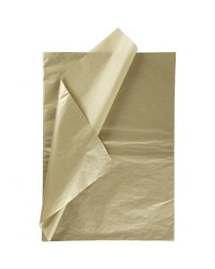 Tissue Paper, 50x70 cm, 14 g, gold, 6 sheet/ 1 pack