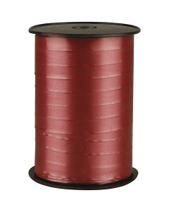 Curling Ribbon, W: 10 mm, glossy, ruby, 250 m/ 1 roll