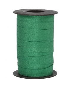 Curling Ribbon, W: 10 mm, glitter, green, 100 m/ 1 roll