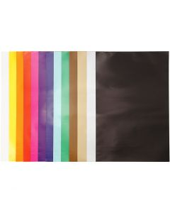 Glazed Paper, 32x48 cm, 80 g, assorted colours, 100 sheet/ 1 pack