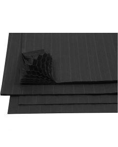 Honeycomb paper, 28x17,8 cm, black, 8 sheet/ 1 pack