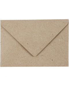 Recycled Envelopes, envelope size 7,8x11,5 cm, 120 g, beige, 50 pc/ 1 pack