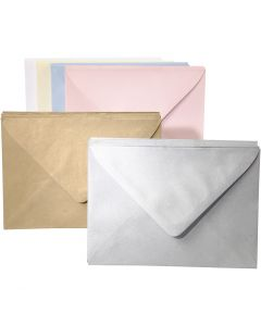 Coloured Envelope Assortment, assorted colours, 120 pc/ 1 pack