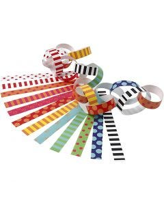 Paper Chains, Pattern, L: 16 cm, W: 15 mm, 2400 pc/ 1 pack