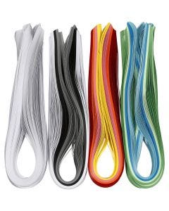 Quilling Paper Strips, L: 78 cm, W: 5 mm, 120 g, assorted colours, 12x100 pc/ 1 pack