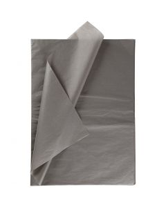 Tissue Paper, 50x70 cm, 14 g, dark grey, 25 sheet/ 1 pack