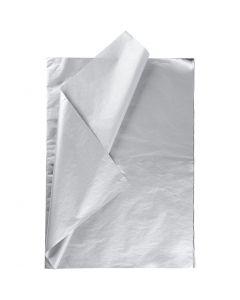 Tissue Paper, 50x70 cm, 14 g, silver, 25 sheet/ 1 pack