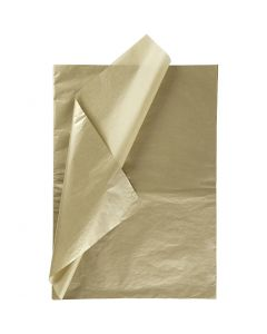 Tissue Paper, 50x70 cm, 14 g, gold, 25 sheet/ 1 pack