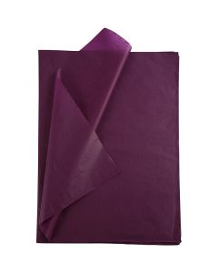 Tissue Paper, 50x70 cm, 14 g, burgundy, 25 sheet/ 1 pack