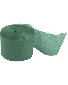 Crepe Paper Streamers, L: 20 m, W: 5 cm, green, 20 roll/ 1 pack
