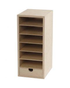 Paper Storage Unit, H: 31,5 cm, depth 18 cm, W: 14 cm, A6, 1 pc