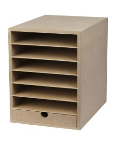 Paper Storage Unit, H: 31,5 cm, depth 32 cm, W: 24,3 cm, A4, 1 pc
