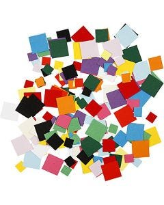 Card Mosaics, square, size 10+15+20 mm, 180 g/ 1 pack