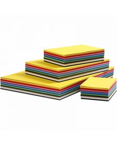 Creative Card, A2,A3,A4,A5,A6, 180 g, assorted colours, 1800 ass sheets/ 1 pack