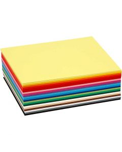 Creative Card, A6, 105x148 mm, 180 g, assorted colours, 120 ass sheets/ 1 pack