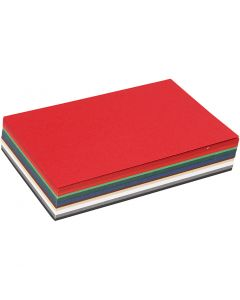 Christmas Card, A6, 105x148 mm, 180 g, assorted colours, 120 ass sheets/ 1 pack