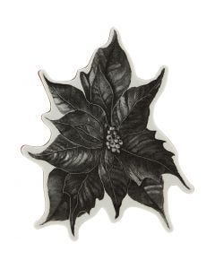 Rubber stamp, poinsettia, H: 5 mm, size 14x11 cm, 1 sheet
