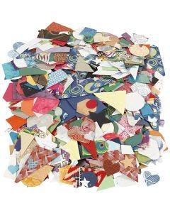Handmade Paper die-cut, size 25-130 mm, 110 g, 500 g/ 1 pack
